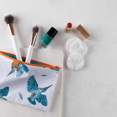 Kingfisher Make Up Case by Cherith Harrison