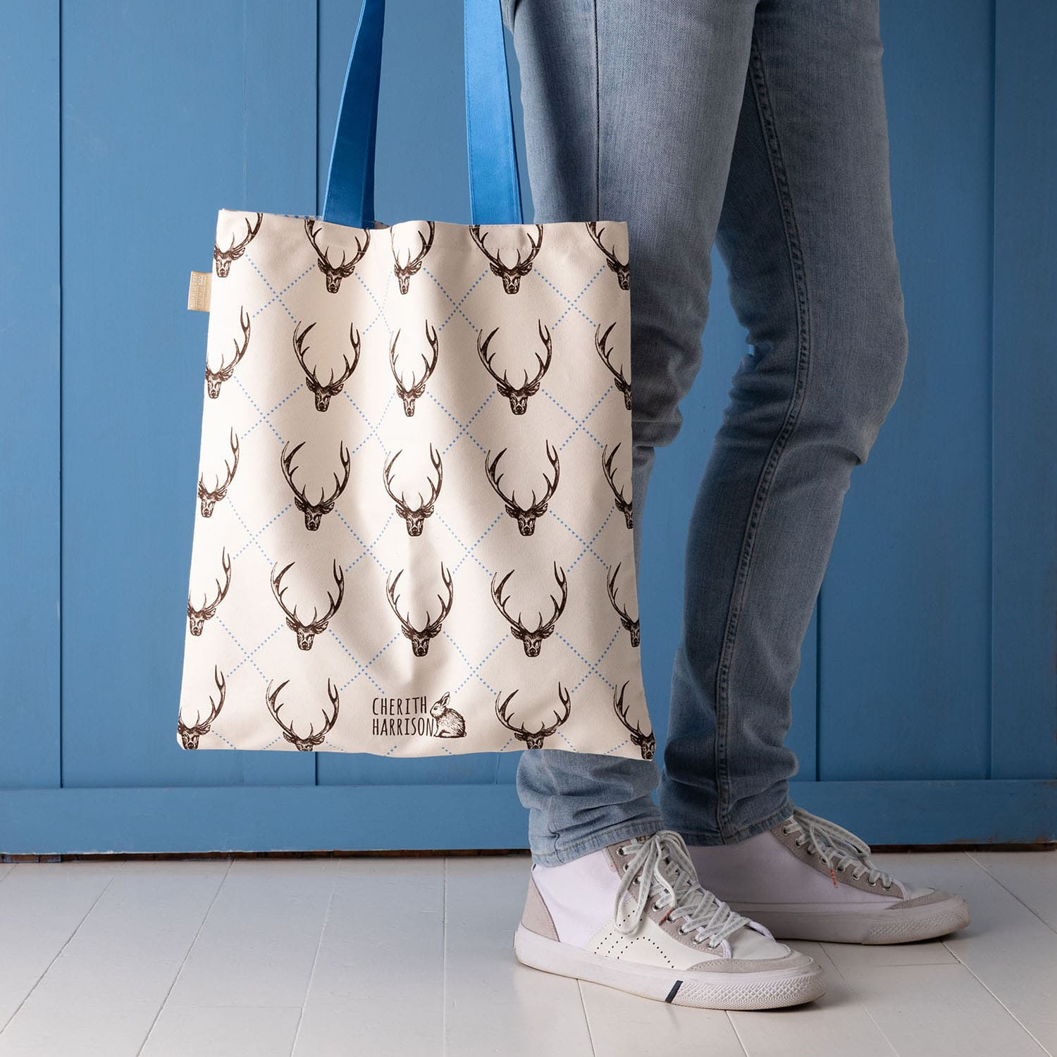 stag canvas shopper bag by Cherith Harrison
