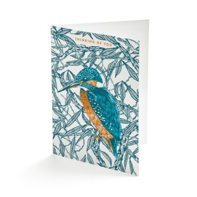 Kingfisher greetings card by Cherith Harrison