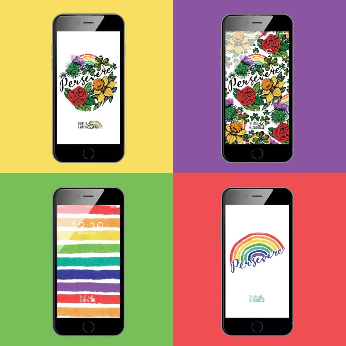 Rainbow screen savers by Cherith Harrison