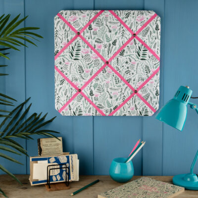 Floral Fabric Notice Board by Cherith Harrison