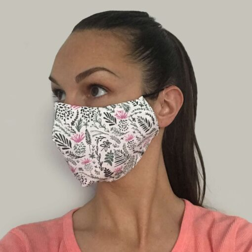 Floral Face Mask design by Cherith Harrison and made in the UK