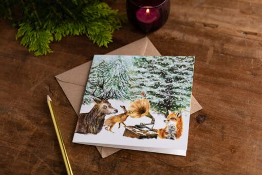 Winter Woodland Christmas Card by Cherith Harrison