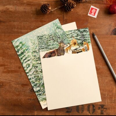 Winter Woodland Christmas Writing Set
