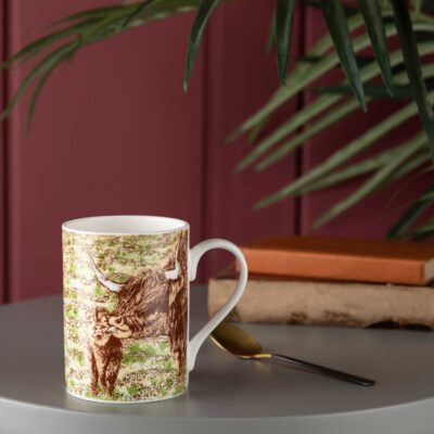 Highland Cow Bath Time mug by Cherith Harrison