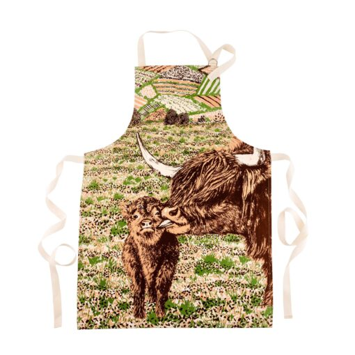 Highland Cow Love Apron by Cherith Harrison