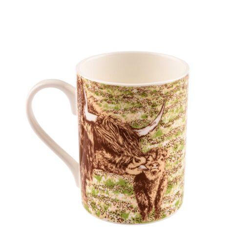 Highland Cow Bath Time mug by Cherith Harrison