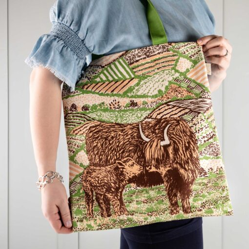 Highland Cow Love Tote Bag by Cherith Harrison