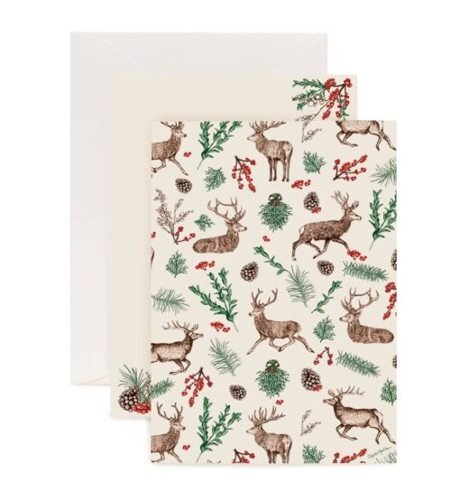 Christmas Reindeer Letter Writing Set by Cherith Harrisong