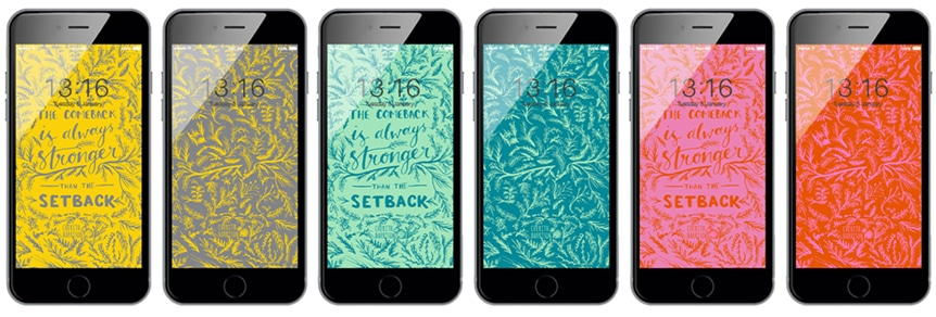 Digital wallpaper and phone background in inspiring quote design by Cherith Harrison