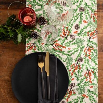 Christmas Garden Table Runner by Cherith Harrison