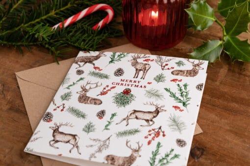Reindeer Christmas card by Cherith Harrison