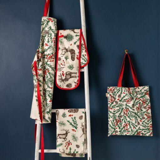 Christmas Reindeer Linen Collection by Cherith Harrison