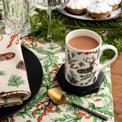 Christmas reindeer bone china mug by Cherith Harrison