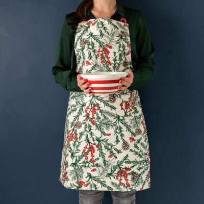 Christmas Garden apron by Cherith Harrison