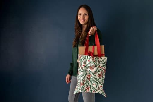 Christmas Reindeer Canvas Eco Shopper Bag by Cherith Harrison